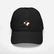 Border Collie Head R&W Baseball Hat