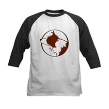 Border Collie Head R&W Tee