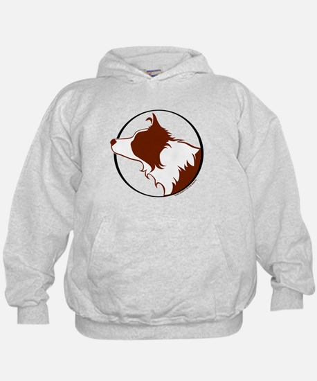 Border Collie Head R&W Hoody