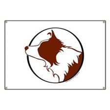 Border Collie Head R&W Banner