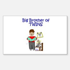 Big Brother of Twins Rectangle Decal