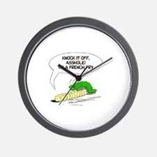frenchfry asshole Wall Clock
