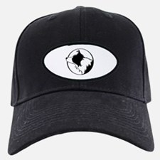 Border Collie Head B&W Baseball Hat