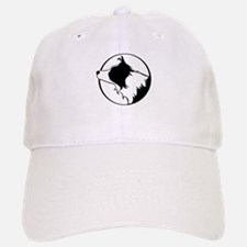 Border Collie Head B&W Baseball Baseball Cap