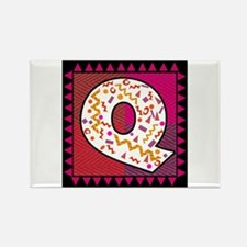 The Letter Q Rectangle Magnet