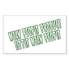 Green Little Mean People Rectangle Decal