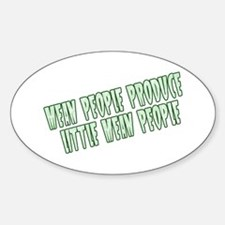 Green Little Mean People Oval Decal