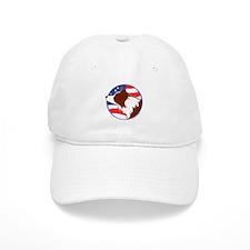 Border Collie R&W Flag Baseball Baseball Cap