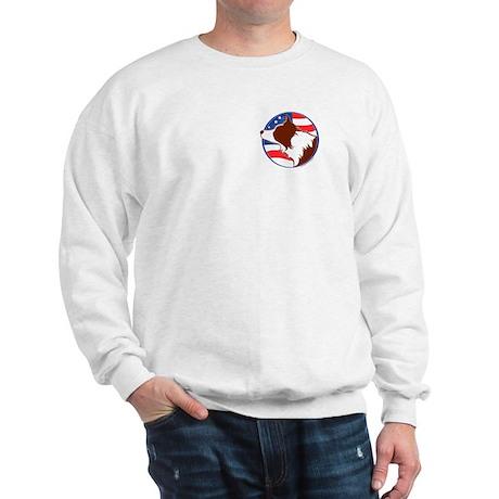 Border Collie R&W Flag Sweatshirt