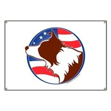 Border Collie R&W Flag Banner