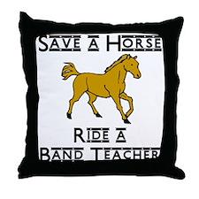 Band Teacher Throw Pillow