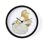 English Trumpeter Cream Bar Wall Clock