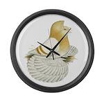 English Trumpeter Cream Bar Large Wall Clock