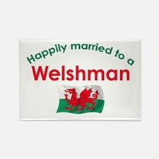Happily Married Welshman Rectangle Magnet