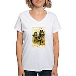 Collie Christmas Women's V-Neck T-Shirt