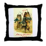 Collie Christmas Throw Pillow