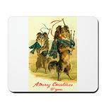 Collie Christmas Mousepad