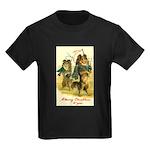 Collie Christmas Kids Dark T-Shirt