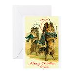 Collie Christmas Greeting Card