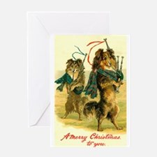 Collie Christmas Greeting Card