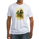 Collie Christmas Fitted T-Shirt