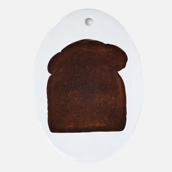 Burnt Toast Oval Ornament