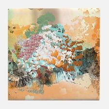 Cool Plum flower Tile Coaster