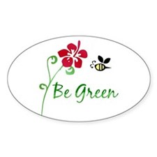 Be Green Oval Decal