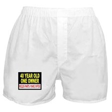 40 Year Old Boxer Shorts