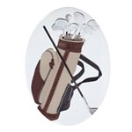 Golfer's Oval Ornament