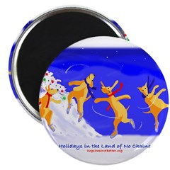 """Holidays in the Land of No Ch 2.25"""" Magnet (100 pa"""