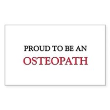 Proud To Be A OSTEOPATH Rectangle Decal