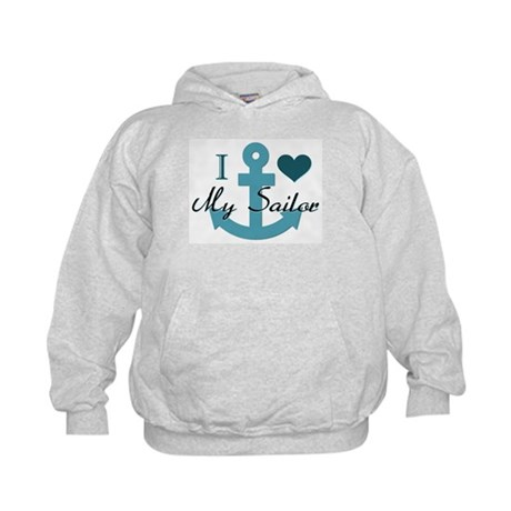 I Love My Sailor Kids Hoodie