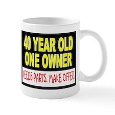 40 Year Old Small Mugs