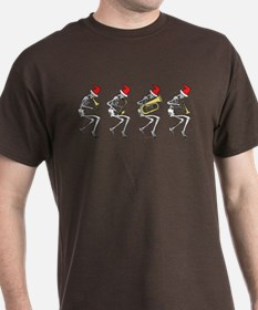 Xmas Brass Band Skeletons T-Shirt