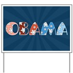 Starry 1920s Obama Yard Sign