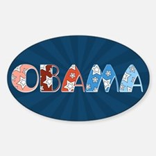Starry 1920s Obama Oval Bumper Decal