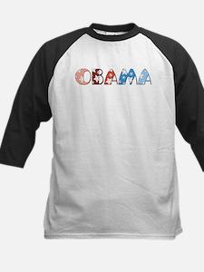 Starry 1920s Obama Kids Baseball Jersey