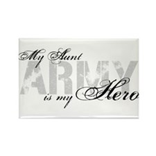 Aunt is my Hero ARMY Rectangle Magnet
