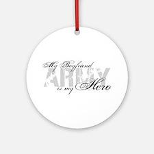 Boyfriend is my Hero ARMY Ornament (Round)