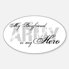 Boyfriend is my Hero ARMY Oval Decal