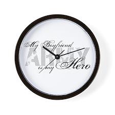 Boyfriend is my Hero ARMY Wall Clock