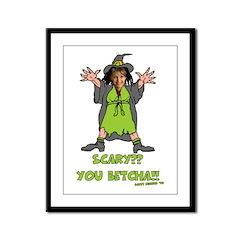 Sarah Palin Halloween Framed Panel Print