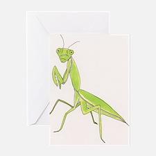 Unique Praying mantis Greeting Card