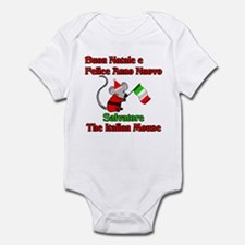 Salvatore the Italian Christmas Mouse Infant Bodys