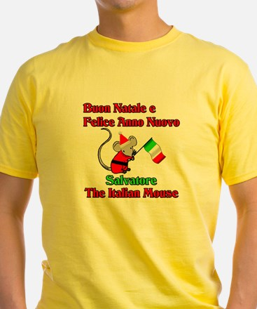 Salvatore the Italian Christmas Mouse T