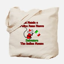 Salvatore the Italian Christmas Mouse Tote Bag