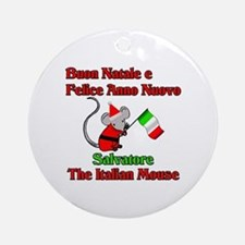 Salvatore the Italian Christmas Mouse Ornament (Ro