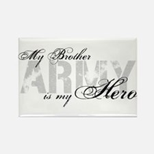 Brother is my Hero ARMY Rectangle Magnet