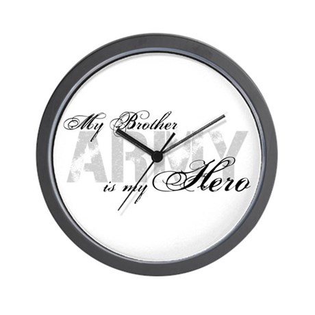 Brother is my Hero ARMY Wall Clock